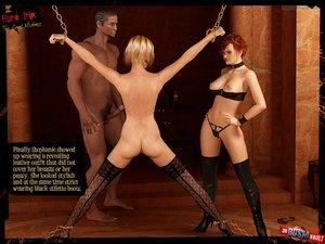 Ballgag prevents lustful slave