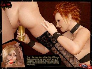 Cruel redhead mistress fucks