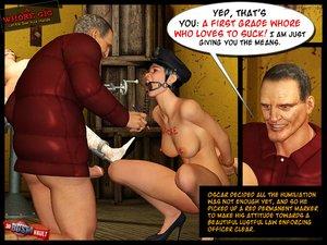 Nasty man cruel torture